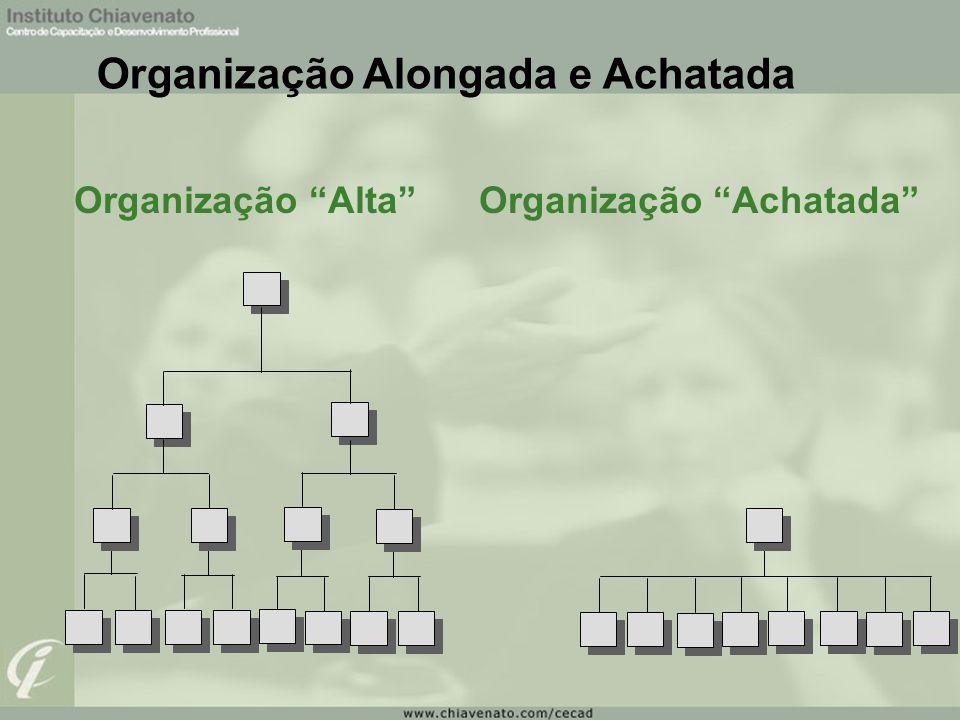 Organização Alongada e Achatada Organização Alta Organização Achatada
