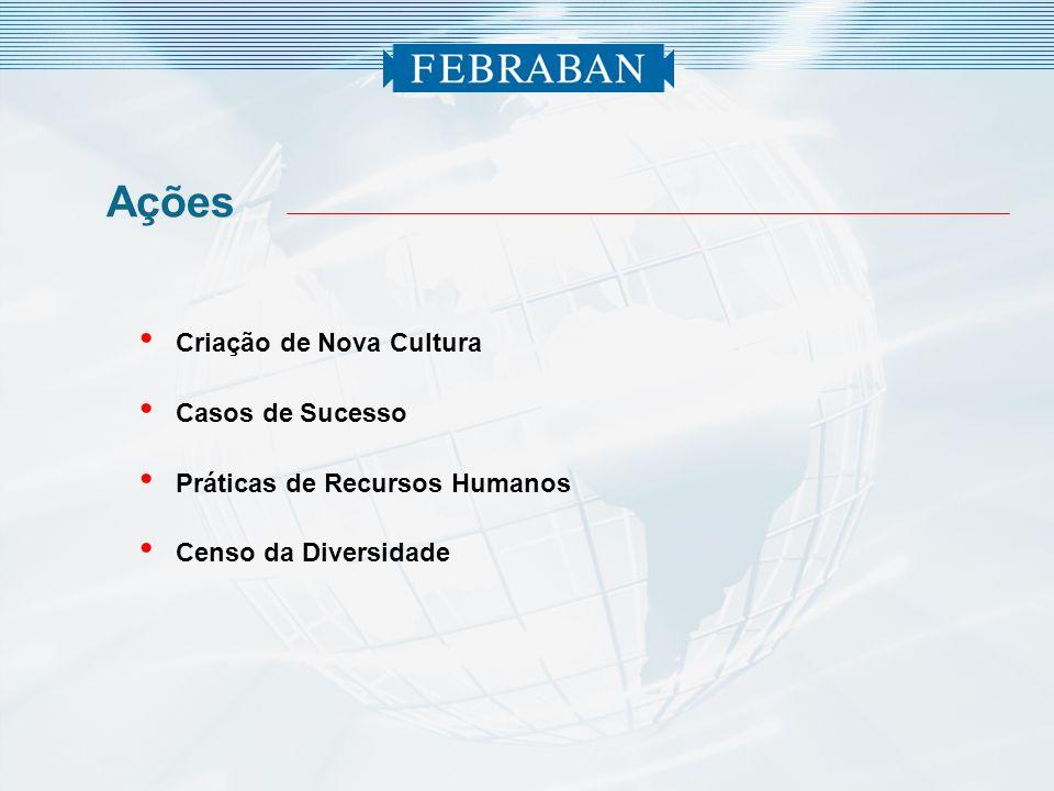 Ações Criação de Nova Cultura Casos de Sucesso Práticas de Recursos Humanos Censo da Diversidade
