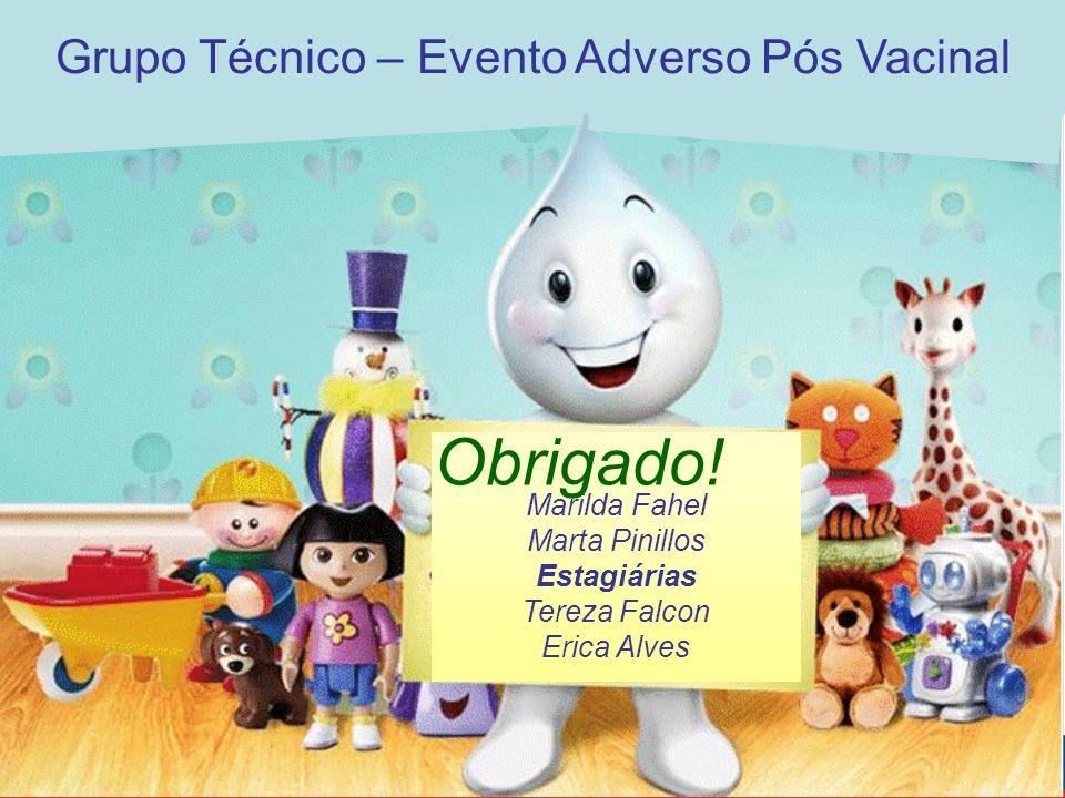 Marilda Fahel Marta Pinillos Estagiárias Tereza Falcon Erica Alves Obrigado.