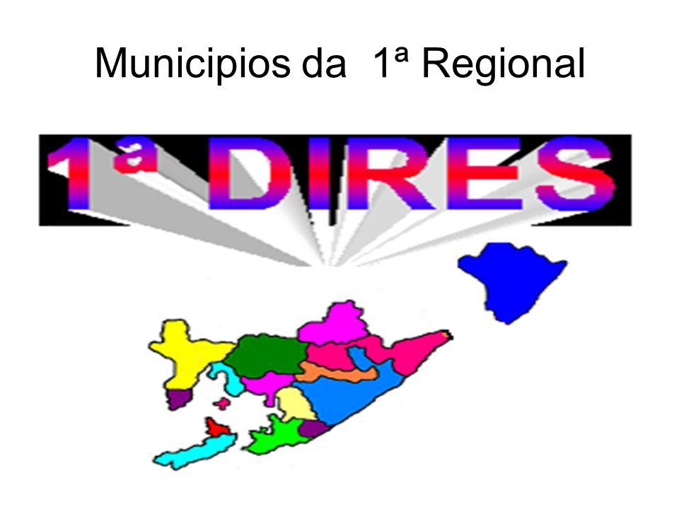 Municipios da 1ª Regional