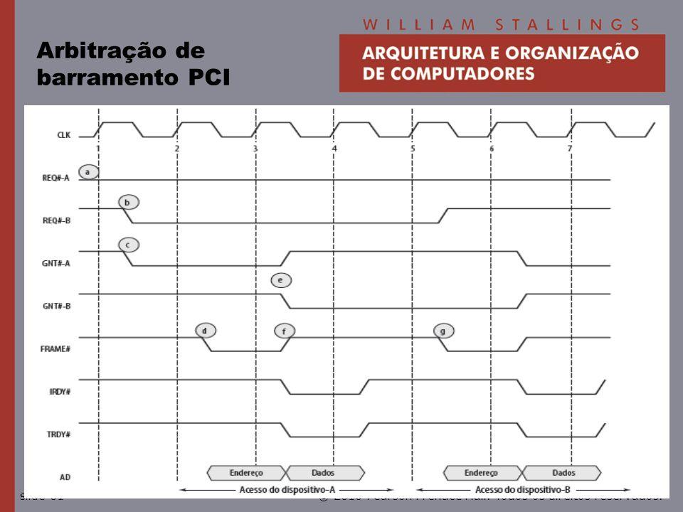 © 2010 Pearson Prentice Hall. Todos os direitos reservados.slide 61 Arbitração de barramento PCI