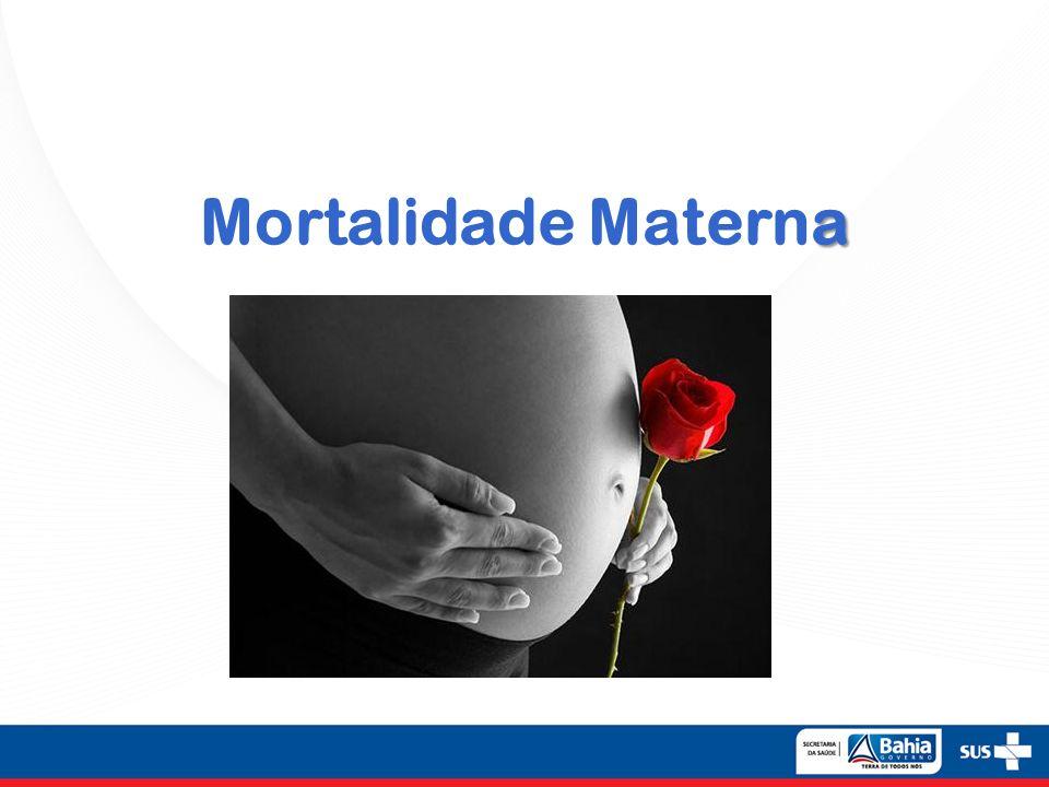 Morte Materna É a morte de uma mulher durante a gestação ou até 42 dias após o término da gestação, independentemente da duração ou da localização da gravidez.