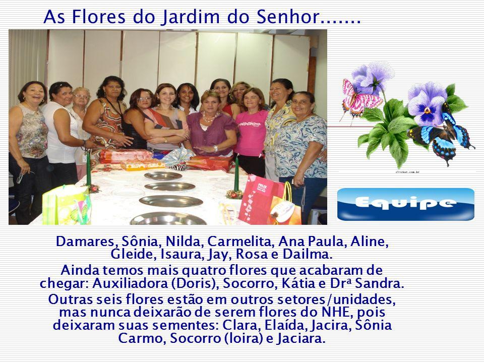 As Flores do Jardim do Senhor....... Damares, Sônia, Nilda, Carmelita, Ana Paula, Aline, Gleide, Isaura, Jay, Rosa e Dailma. Ainda temos mais quatro f
