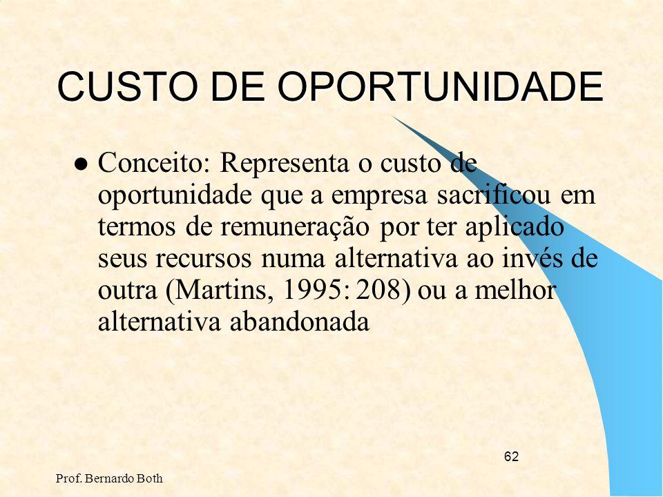 Prof. Bernardo Both 61 OUTRAS MEDIDAS/FERRAMENTAS DE PERFORMANCE/GESTÃO TEORIA DAS RESTRIÇÕES – Criada por Elyaho Goldratt EVA – Economic Value Added