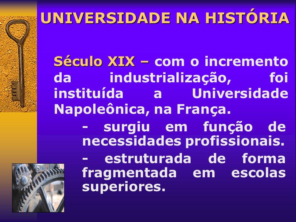 Século XIII – Século XIII – saber medieval é contestado. (Iluminismo) UNIVERSIDADE NA HISTÓRIA