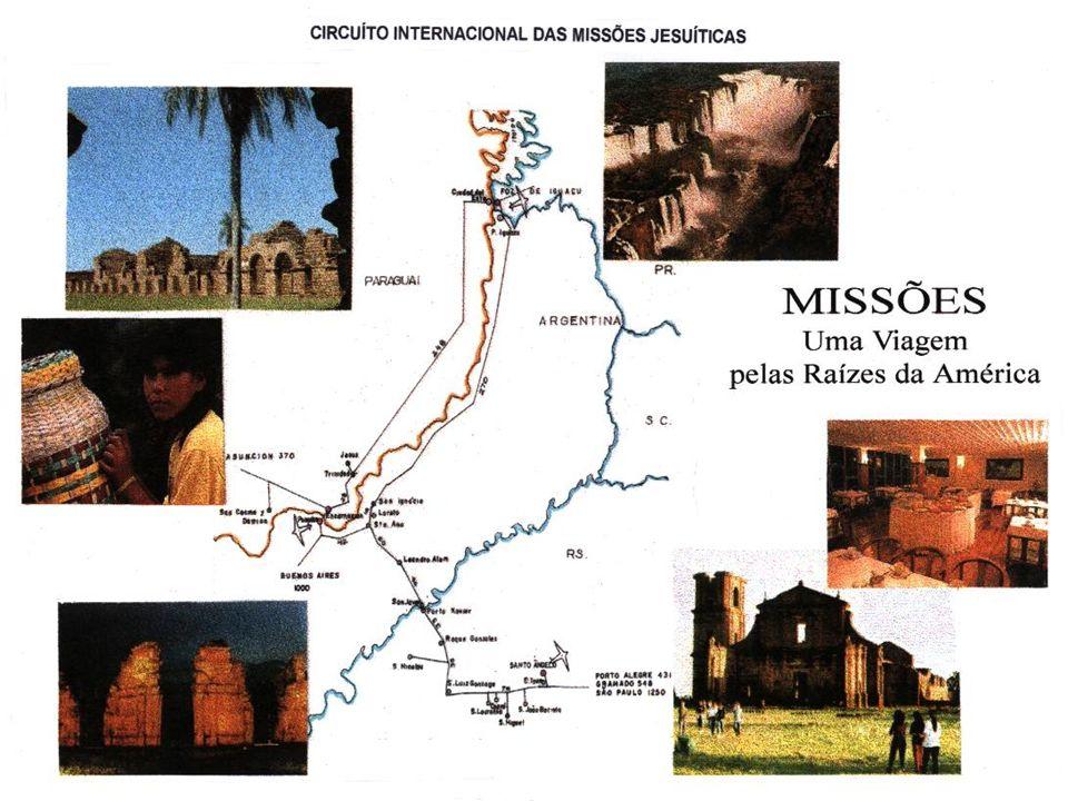 CARACTERIZAÇÃO GERAL DA ÁREA DE ESTUDO Territórios que hoje pertencem à Argentina, Brasil, Paraguai e Uruguai onde, no século XVII, foram implantadas as Reduções Jesuítico-Guarani.