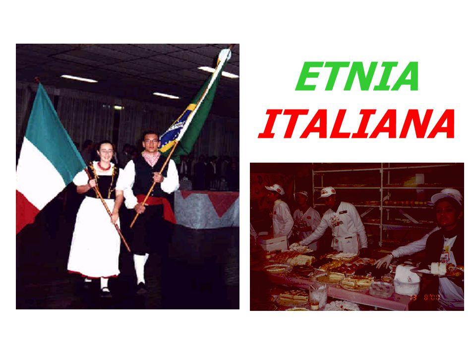ETNIA ITALIANA - ITALIANOS NO RS - Entre 1875 e 1914 - 80 mil imigrantes provenientes da Lombardia, do Vêneto e do Tairol.