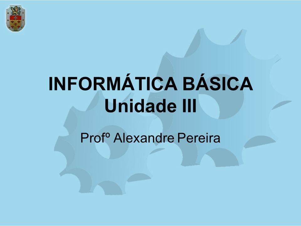 INFORMÁTICA BÁSICA Unidade III Profº Alexandre Pereira