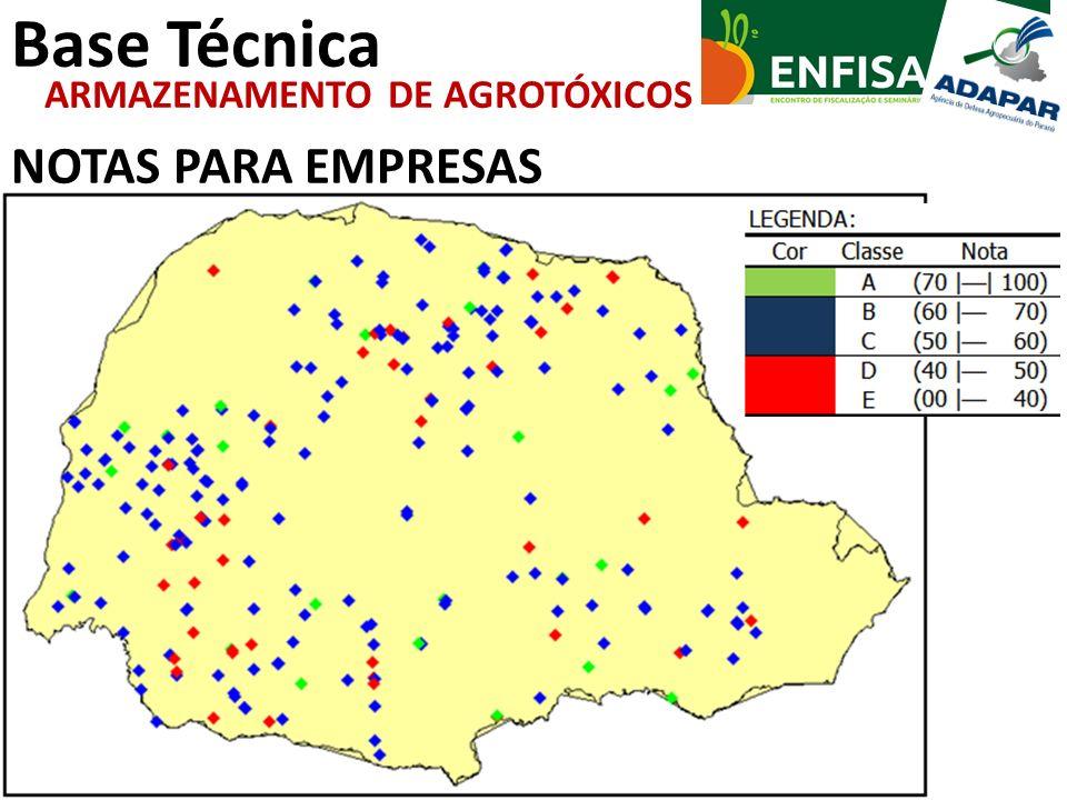 Base Técnica NOTAS PARA EMPRESAS ARMAZENAMENTO DE AGROTÓXICOS