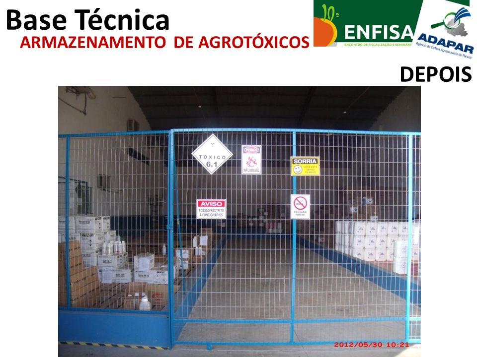 Base Técnica DEPOIS ARMAZENAMENTO DE AGROTÓXICOS