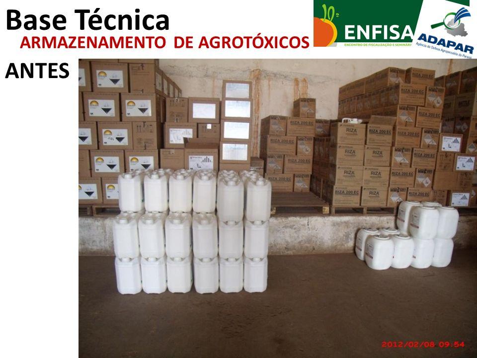 Base Técnica ANTES ARMAZENAMENTO DE AGROTÓXICOS