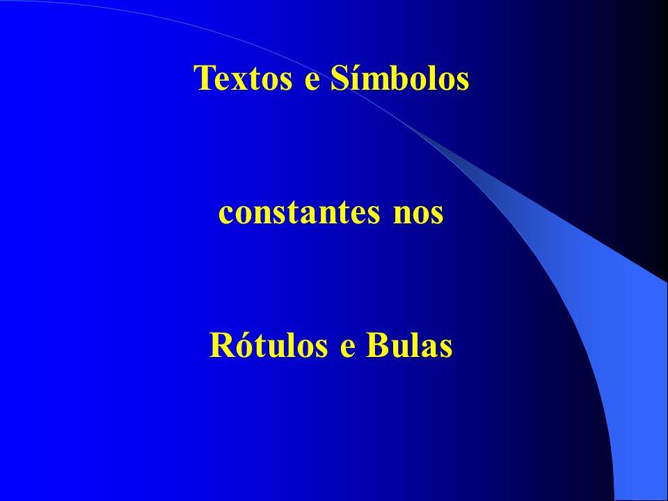 Rótulos e Bulas com textos e símbolos muito pequenos de difícil visibilidade e leitura Lei Federal 7802/89 Art.