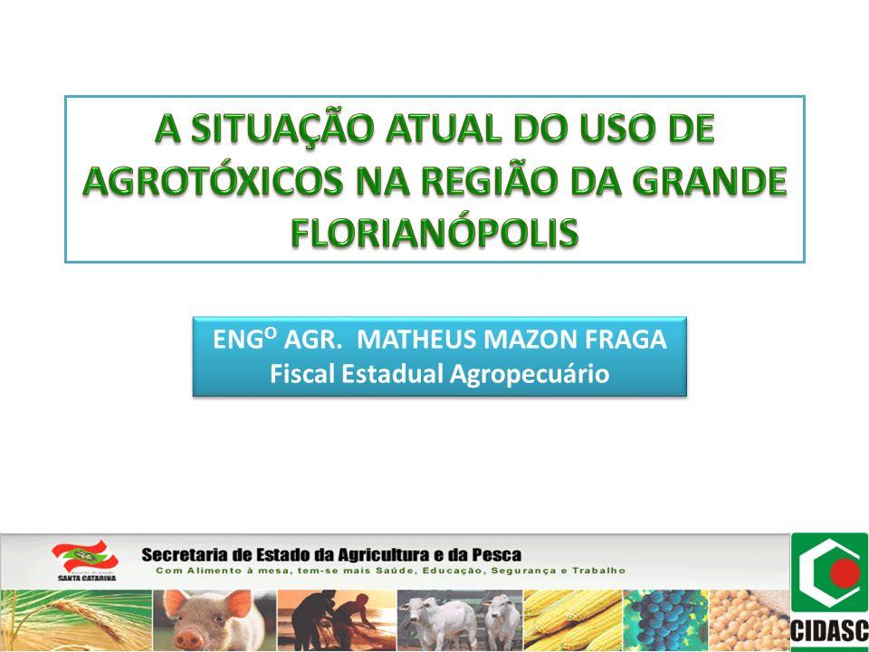 SINDAG 2010 BRASIL – 790.000 ton.de agrotóxicos; SC – 15.031 ton.