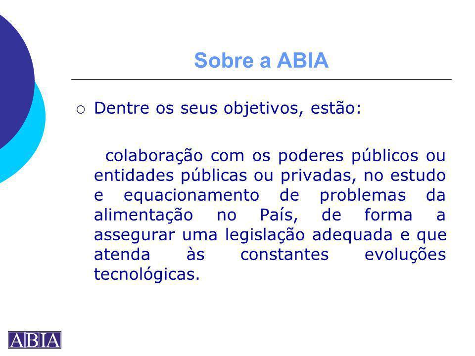 Sobre a ABIA Dentre os seus objetivos, estão: colaboração com os poderes públicos ou entidades públicas ou privadas, no estudo e equacionamento de pro