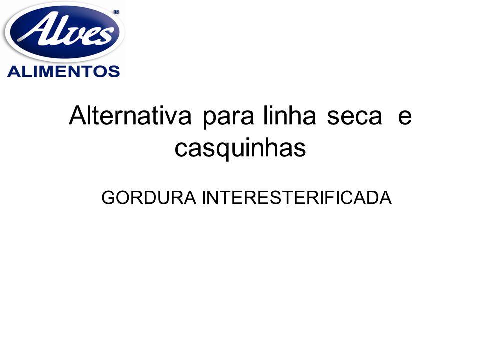 Alternativa para linha seca e casquinhas GORDURA INTERESTERIFICADA