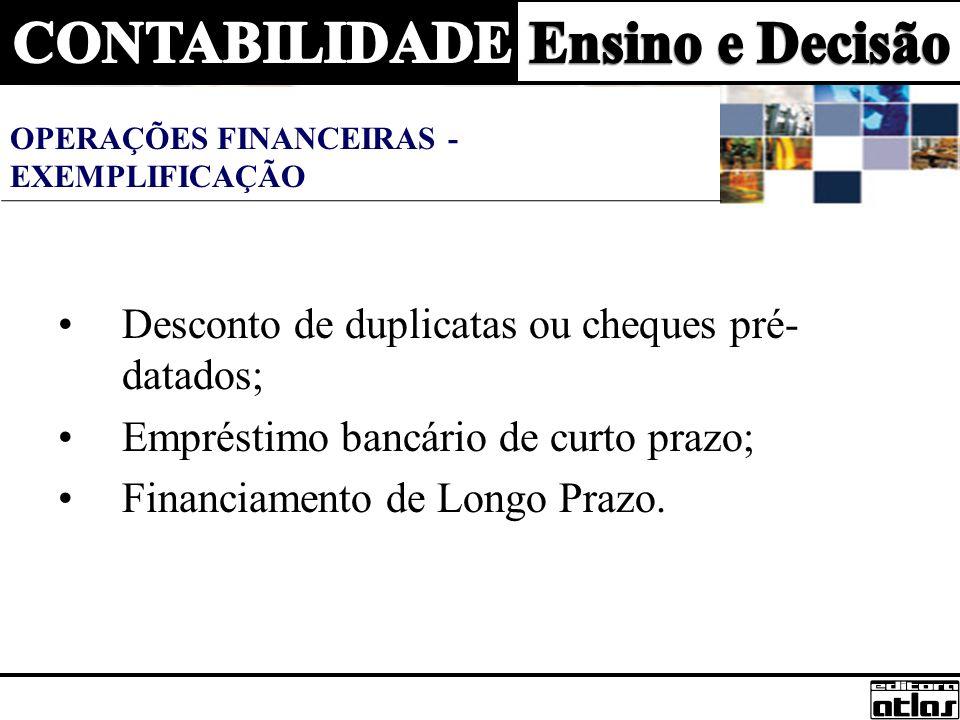 Lançamentos Para aplicações em ações: D - 1.1.03.001 Investimentos em ações50.000,00 C - 1.1.01.002 Bancos50.000,00