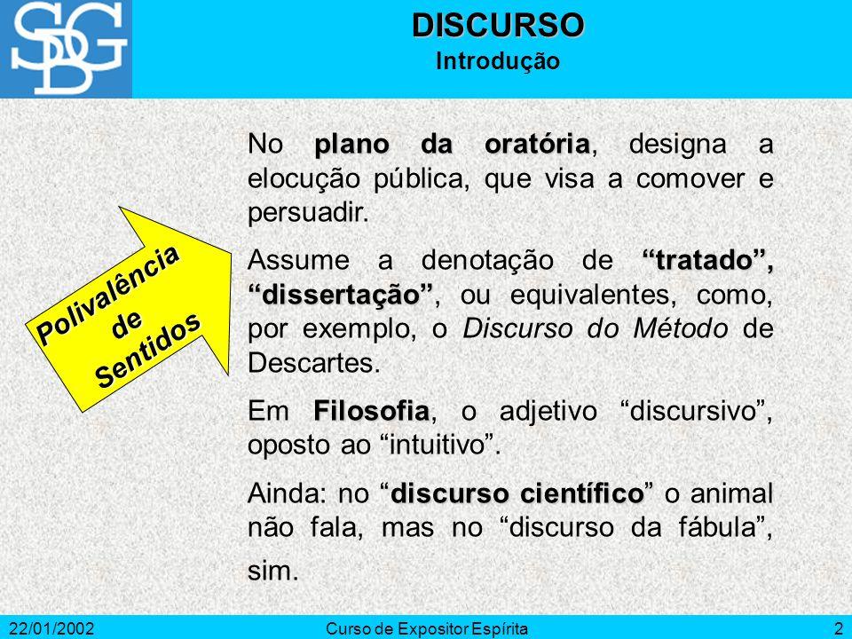 22/01/2002Curso de Expositor Espírita2 plano da oratória No plano da oratória, designa a elocução pública, que visa a comover e persuadir.
