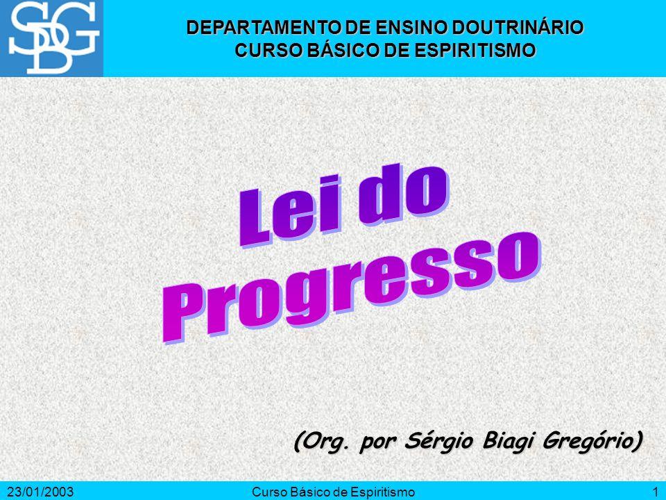 23/01/2003Curso Básico de Espiritismo1 (Org.