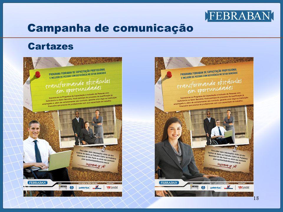 18 Campanha de comunicação Cartazes