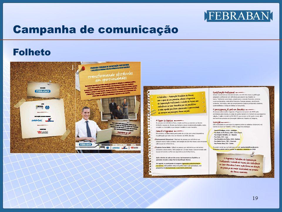 19 Folheto Campanha de comunicação