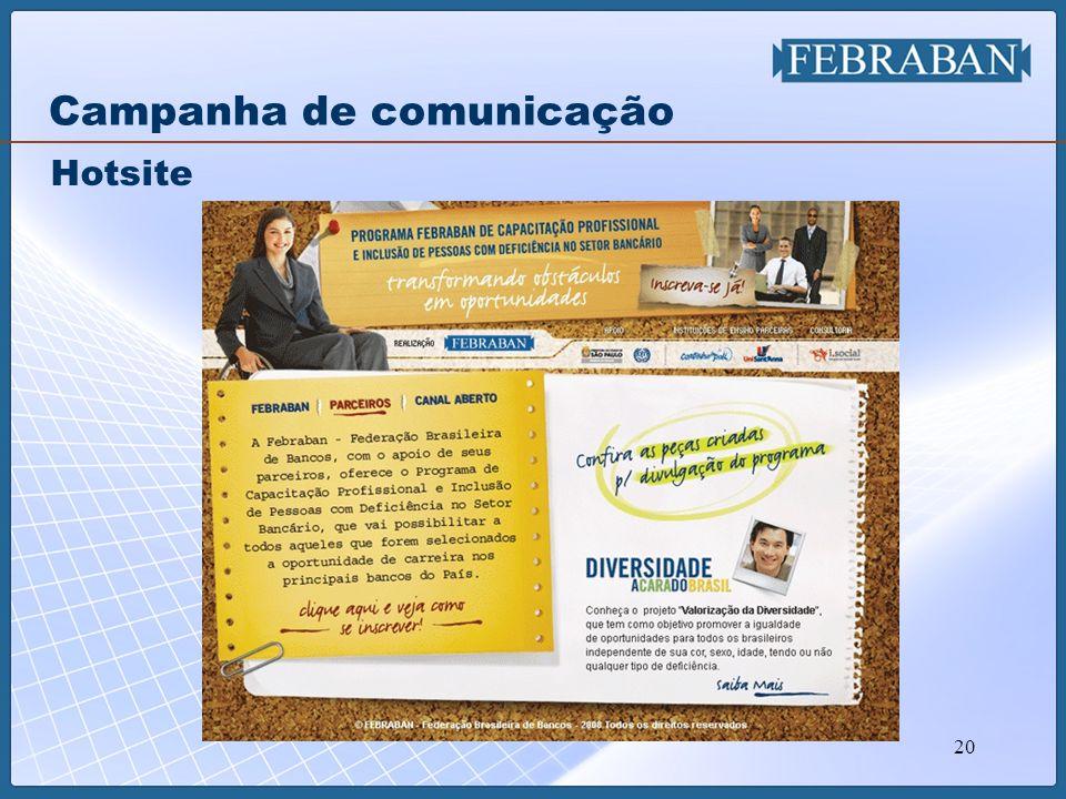 20 Hotsite Campanha de comunicação