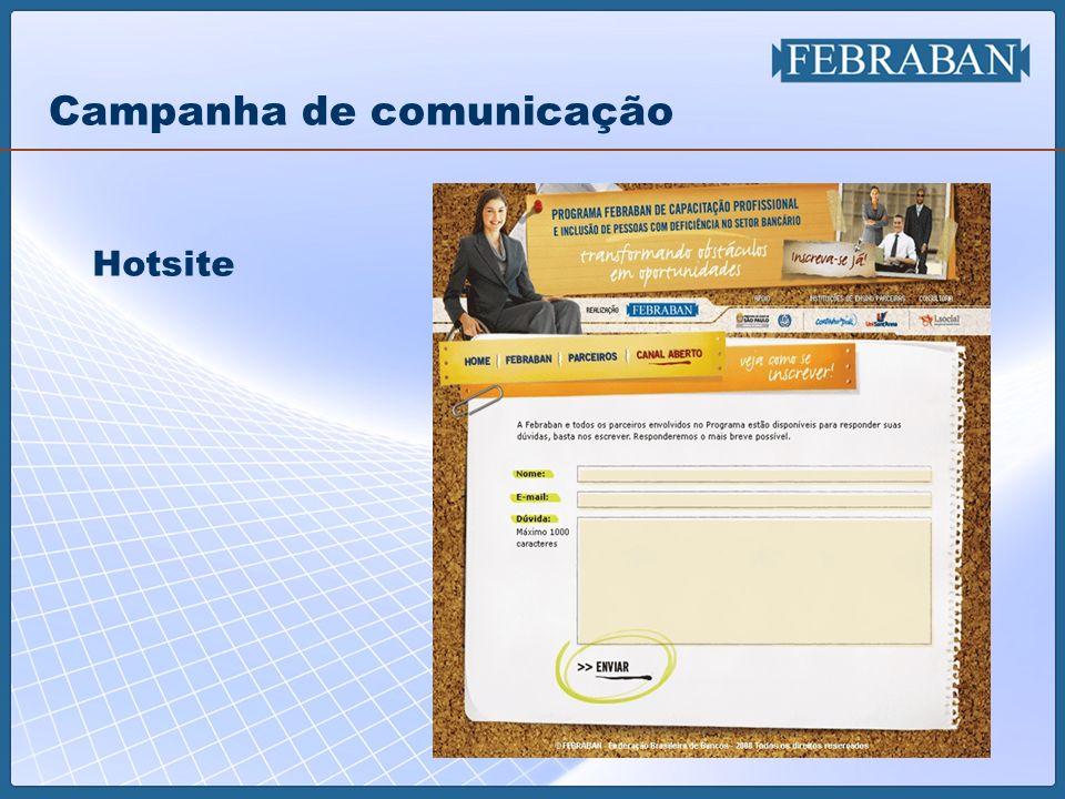 22 Campanha de comunicação Hotsite