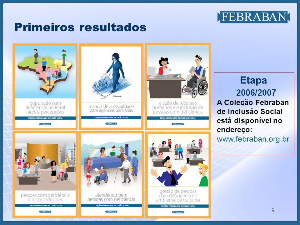 9 Primeiros resultados Etapa 2006/2007 A Coleção Febraban de Inclusão Social está disponível no endereço: www.febraban.org.br