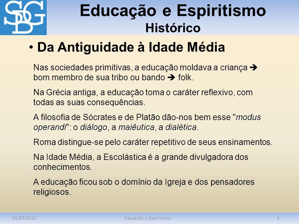Educação e Espiritismo Bibliografia Consultada 01/03/2012Educação e Espiritismo15 BAZARIAN, J.