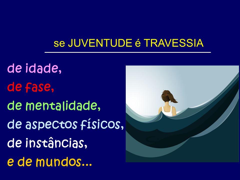 se JUVENTUDE é TRAVESSIA de idade, de fase, de mentalidade, de aspectos físicos, de instâncias, e de mundos...