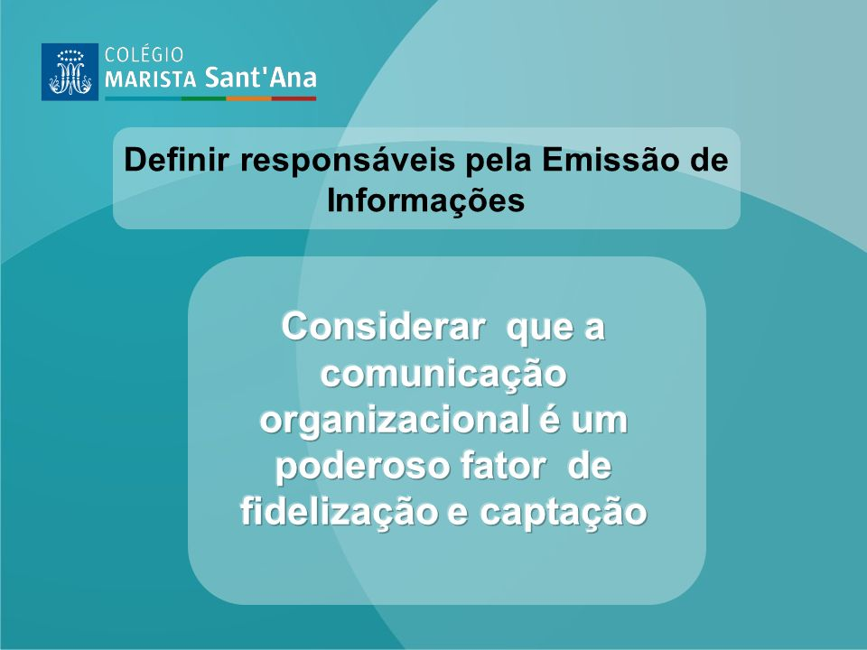 Definir responsáveis pela Emissão de Informações