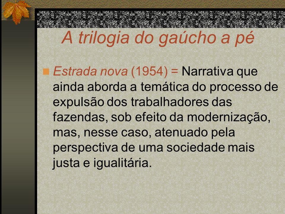 A trilogia do gaúcho a pé Estrada nova (1954) = Narrativa que ainda aborda a temática do processo de expulsão dos trabalhadores das fazendas, sob efei