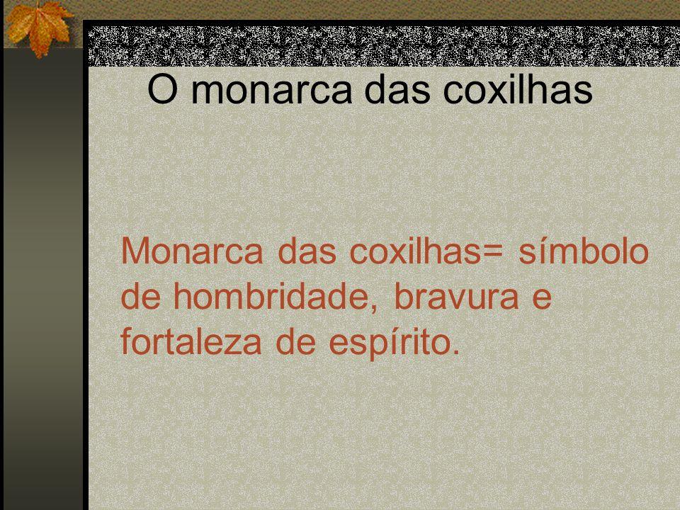 O monarca das coxilhas Monarca das coxilhas= símbolo de hombridade, bravura e fortaleza de espírito.
