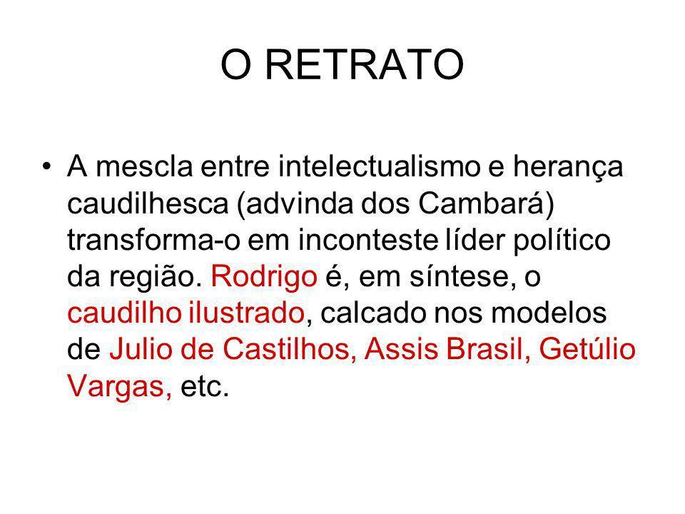 O RETRATO A mescla entre intelectualismo e herança caudilhesca (advinda dos Cambará) transforma-o em inconteste líder político da região. Rodrigo é, e