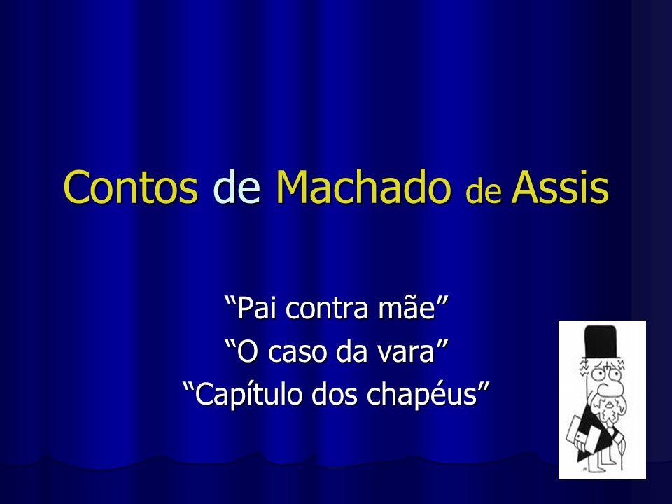 Contos de Machado de Assis Pai contra mãe O caso da vara Capítulo dos chapéus