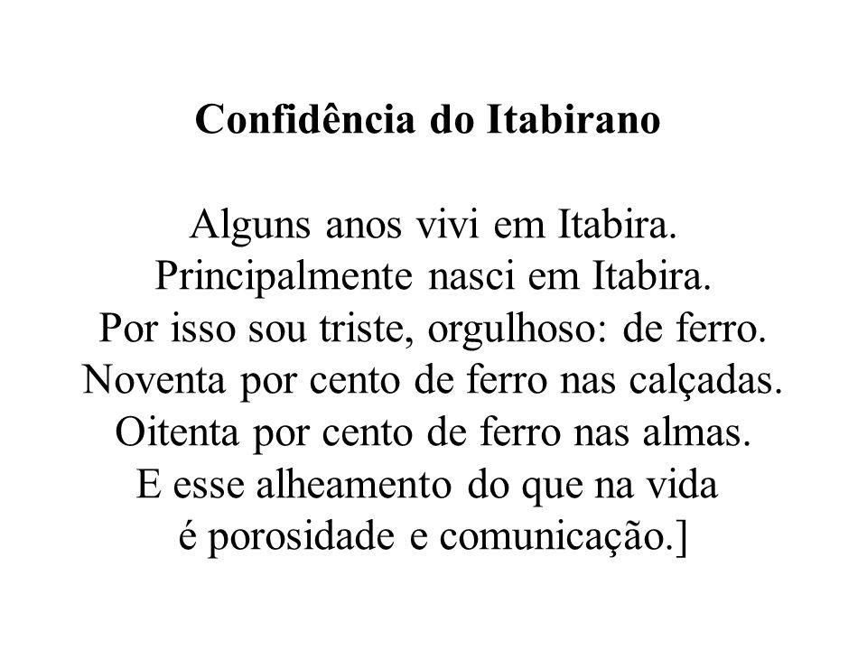 Confidência do Itabirano Alguns anos vivi em Itabira.
