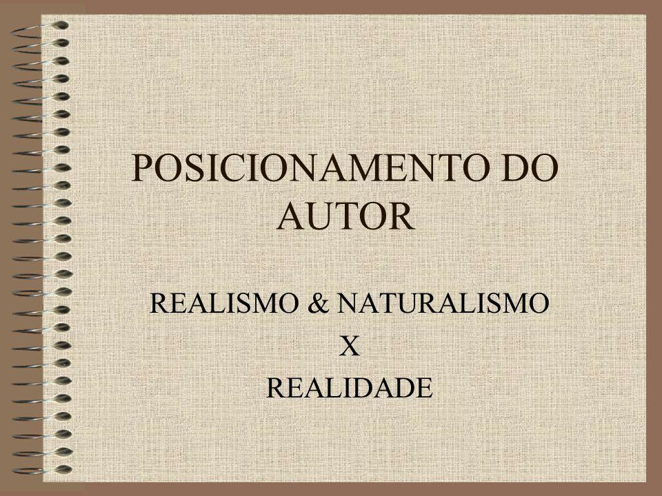 POSICIONAMENTO DO AUTOR REALISMO & NATURALISMO X REALIDADE