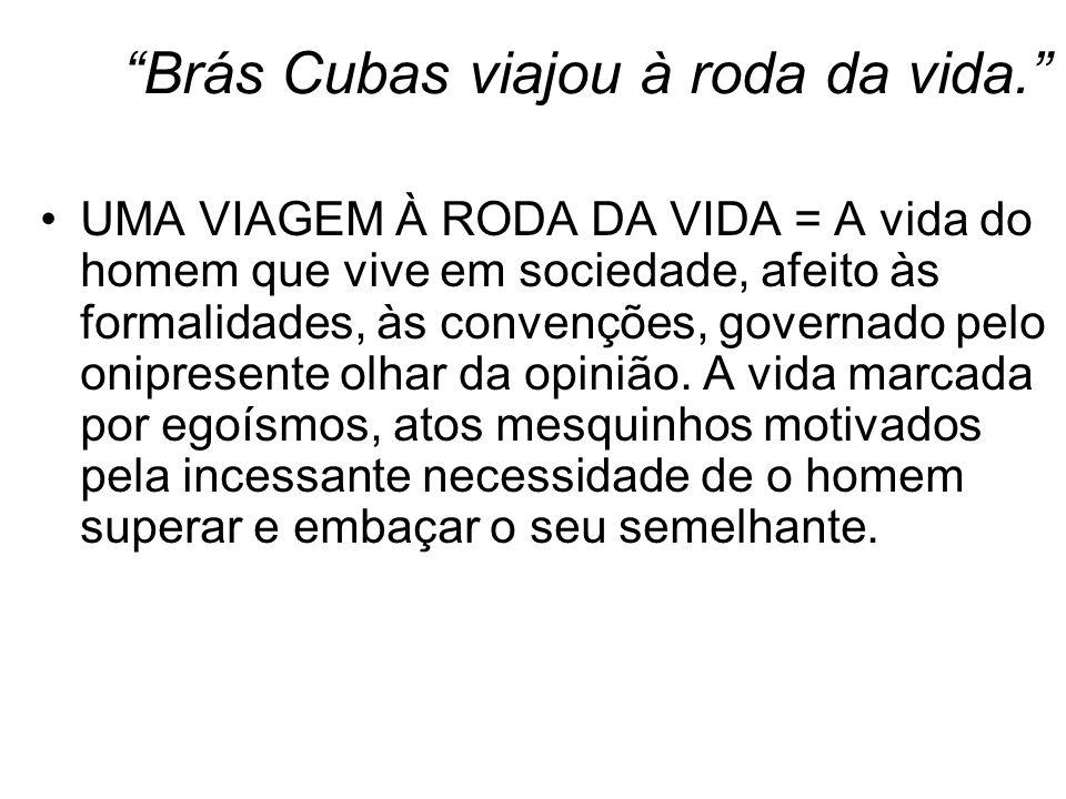 Brás Cubas viajou à roda da vida.