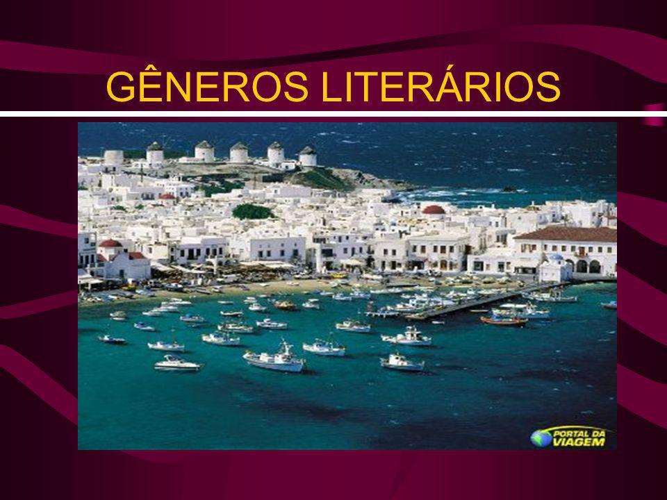 Gêneros Literários OBRAS LITERÁRIAS: QUANTO À FORMA = VERSO & PROSA QUANTO AO CONTEÚDO = GÊNEROS LITERÁRIOS