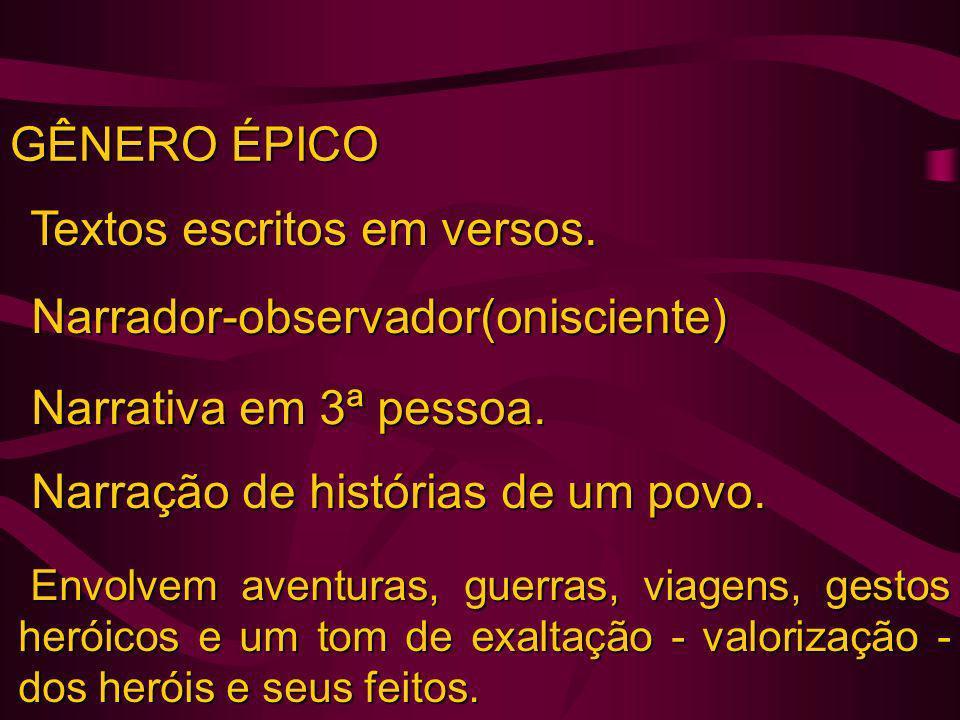 GÊNERO LÍRICO - EM RESUMO FORMA = Poesia lírica (quase sempre = verso) PREDOMINÂNCIA DA SUBJETIVIDADE (REGISTRO DE EMOÇÕES).