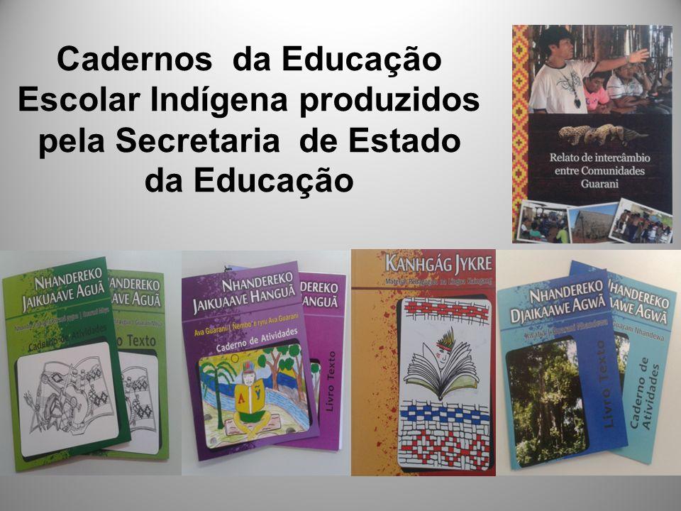 Cadernos da Educação Escolar Indígena produzidos pela Secretaria de Estado da Educação