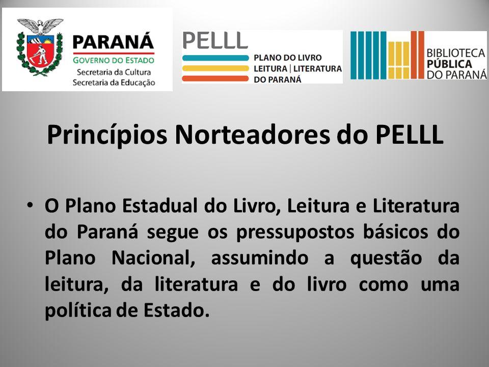 O Plano Estadual do Livro, Leitura e Literatura do Paraná segue os pressupostos básicos do Plano Nacional, assumindo a questão da leitura, da literatu