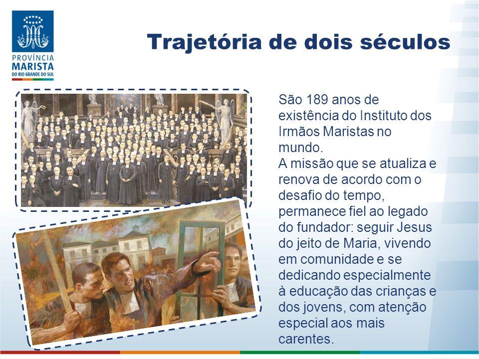 Trajetória de dois séculos São 189 anos de existência do Instituto dos Irmãos Maristas no mundo. A missão que se atualiza e renova de acordo com o des