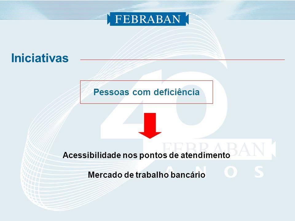 Pessoas com deficiência Acessibilidade nos pontos de atendimento Mercado de trabalho bancário Iniciativas