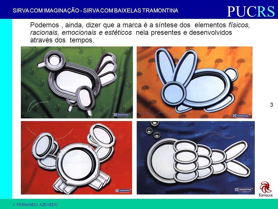PUCRS J. FERNANDO AZEVEDO 3 Podemos, ainda, dizer que a marca é a síntese dos elementos físicos, racionais, emocionais e estéticos nela presentes e de