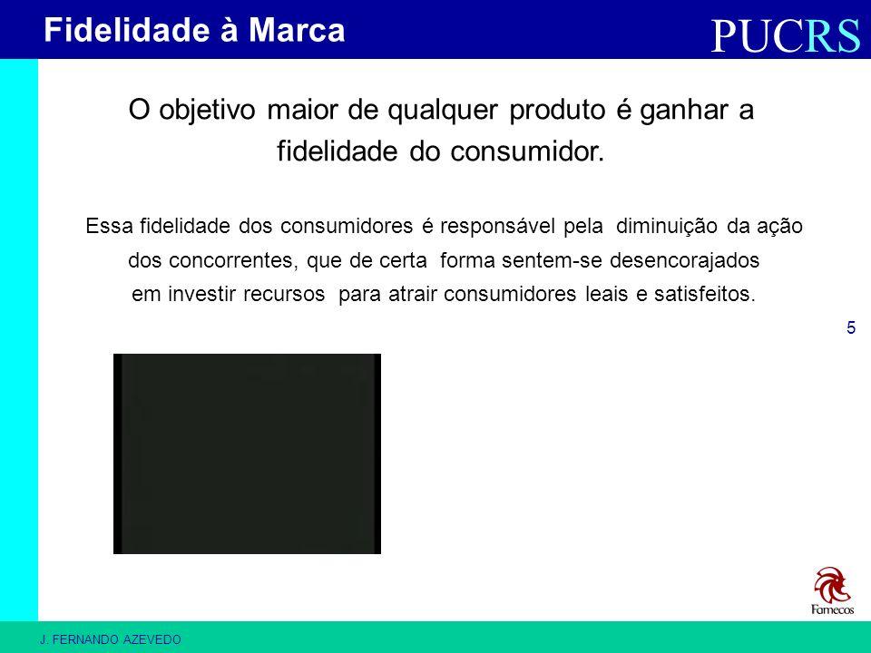 PUCRS J. FERNANDO AZEVEDO 5 O objetivo maior de qualquer produto é ganhar a fidelidade do consumidor. Essa fidelidade dos consumidores é responsável p