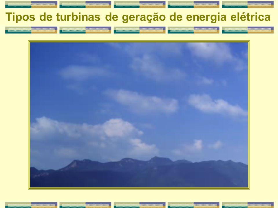 Usina termoelétrica Tipos de turbinas de geração de energia elétrica BiomassaCaldeira TurbinaGerador Rede Elétrica Consumidor