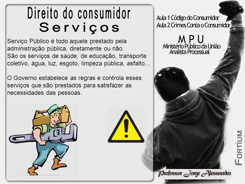 Serviço Público é todo aquele prestado pela administração pública, diretamente ou não. São os serviços de saúde, de educação, transporte coletivo, águ