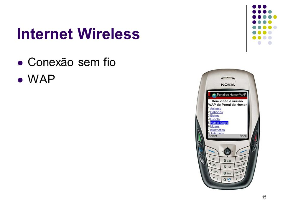16 Estrutura Física da Internet Atual Backbone (centralizador) Servidor ( provedor ) Cliente