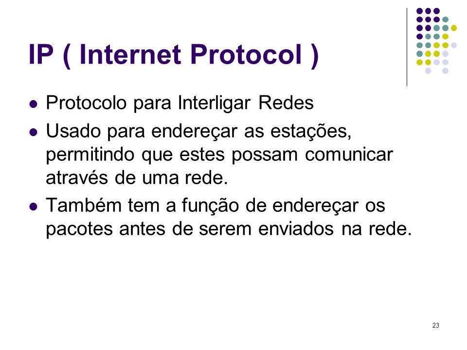24 HTTP (Hiper text transfer Protocol) Protocolo de transferência de hipertextos Faz a comunicação entre o navegador e as páginas da internet.