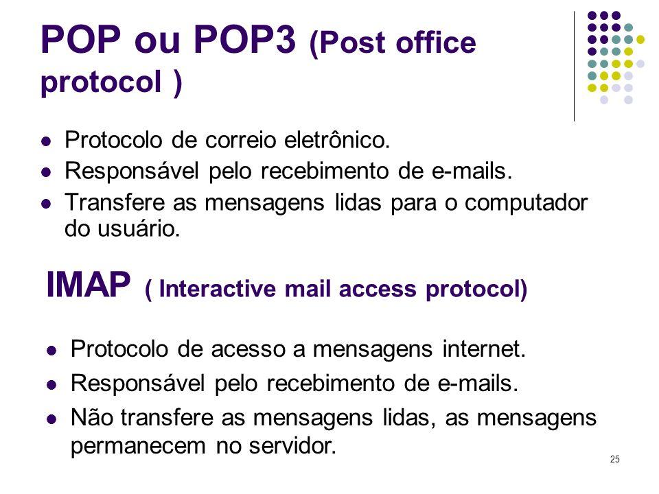 26 FTP (File transfer protocol) Protocolo de Transferência de arquivos Usado para transferência interativa de arquivos (upload e download) Somente Arquivos completos
